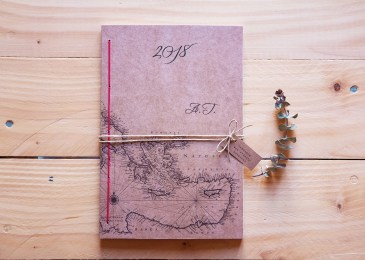 Personalized agenda with monogram letters