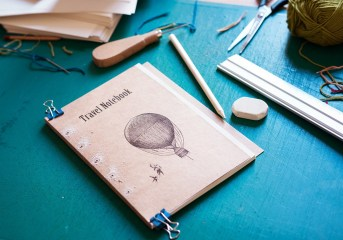 "Work in progress Travel notebook - ""Postcards from..."" collection"