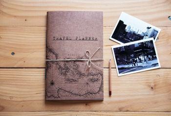 Travel planner notebook