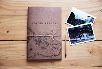 Travel planner notebook