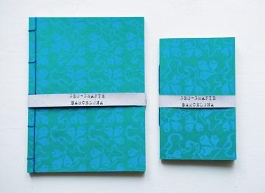 Barcelona - taccuini esgrafiado catalano blu e verde coppia