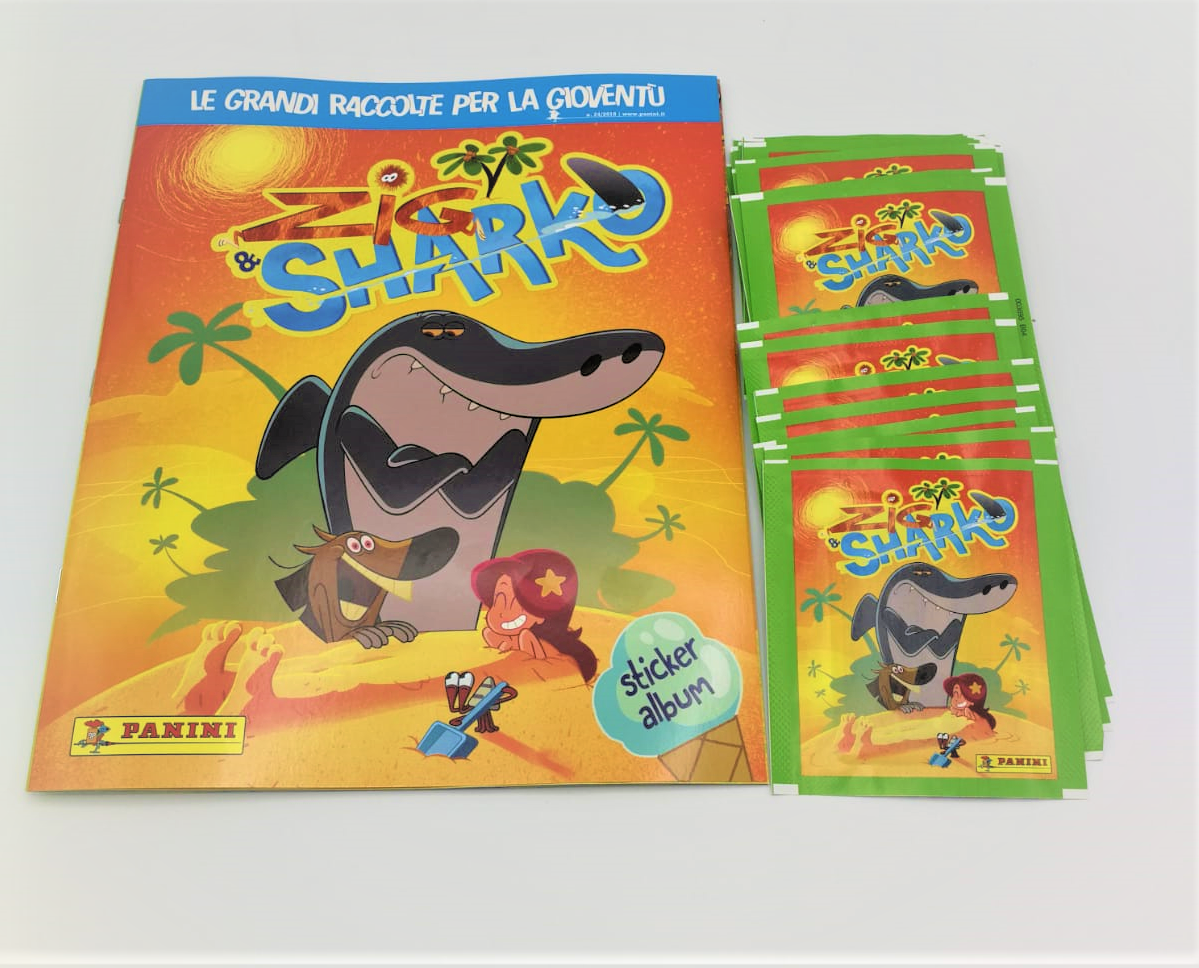 Zig Sharko Album Blank 50 Packs Figurines Panini Ebay