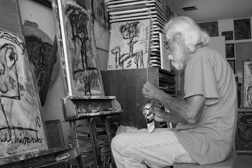 Manuel Miranda painting in McAllen, Texas