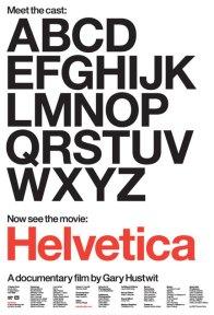 Cartel del documental Helvetica