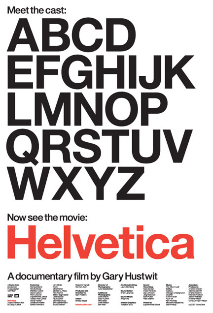 Cartel del documental Helvética