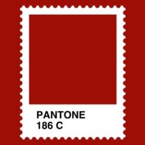 Pantone 186C, diseño para una camiseta