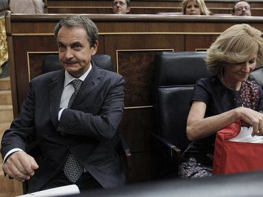 José Luis Rodríguez Zapatero y Elena Salgado Méndez