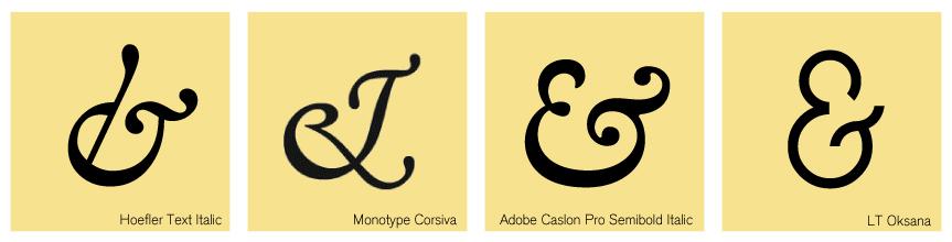 Ejemplos de ampersand en el que se lee el et original