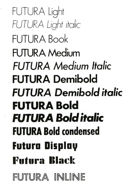 futura la tipografia