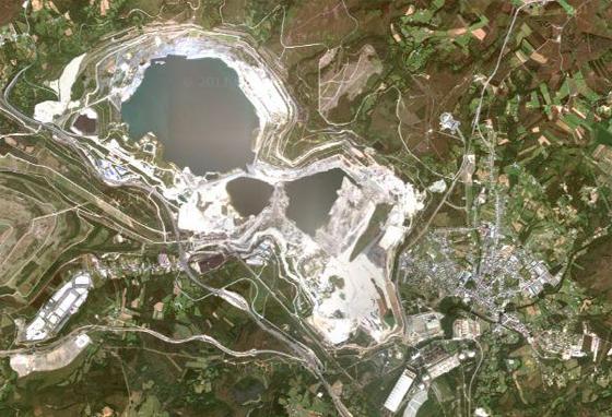 Lago de As Pontes en Google Maps