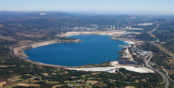 Lago de As Pontes lleno. Foto de Janet González Valdés en La voz de Galicia