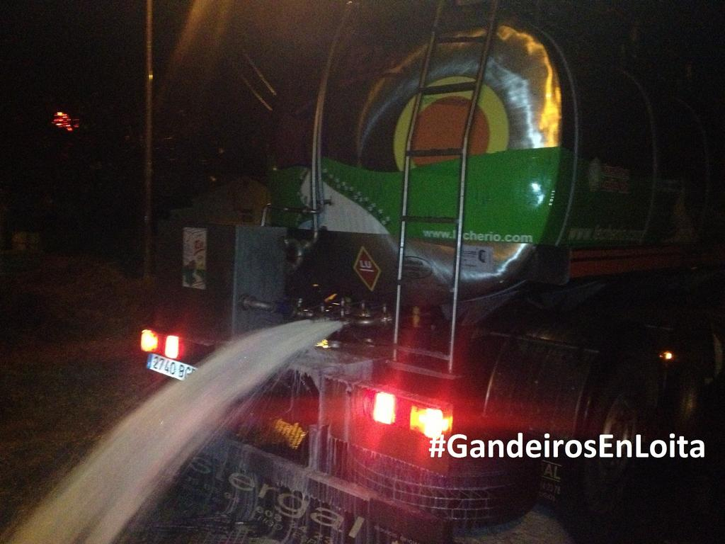 Leche tirada de camión cisterna de Río