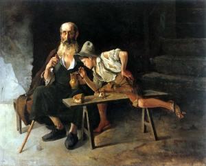 El Lazarillo de Tormes, cuadro de Luis de Santamaría y Pizarro