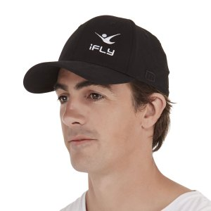 Custom Curved Elasticated peak cap by Manufactory Apparel