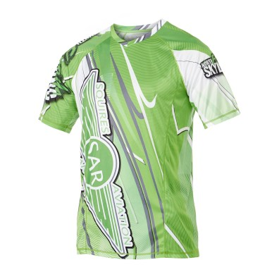 Custom skydiving Jersey in Green