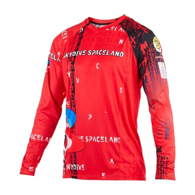 Custom skydiving Jersey in Red