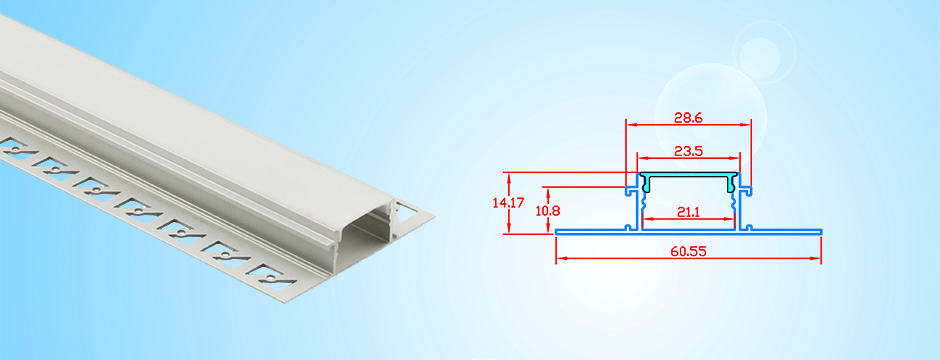 recessed aluminum channel for led tape