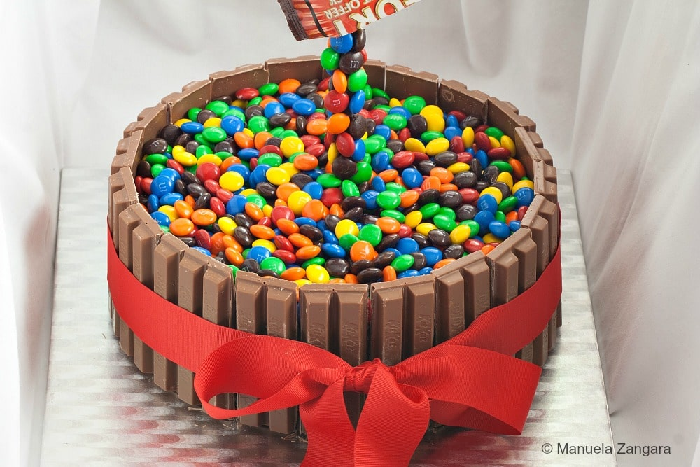 Gravity Defying M M S Kit Kat Cake