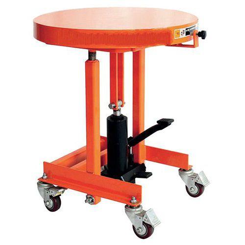 table a plateau tournant 200 kg manutan fr