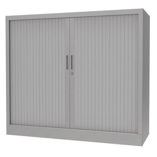 armoire a rideaux avec plateau superieur gris aluminium manutan fr