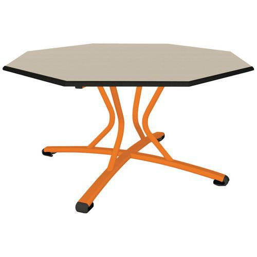 table malibu pied central octogonale o 120 cm chant surmoule manutan fr