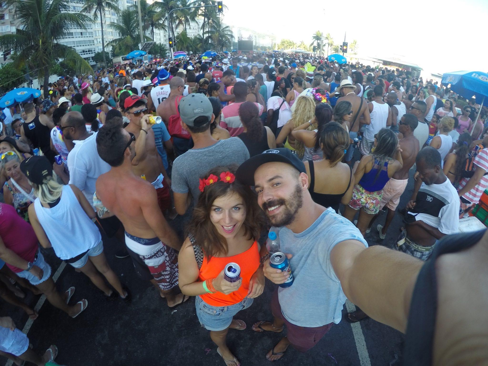 bloco selfie at rio carnival
