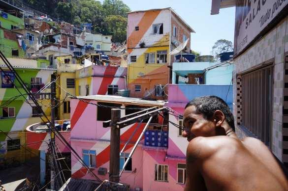 Santa Marta Favela in Rio de Janeiro, Brazil