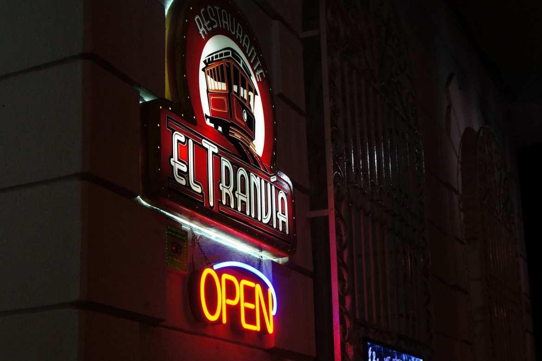 neon bar sign in cienfuegos
