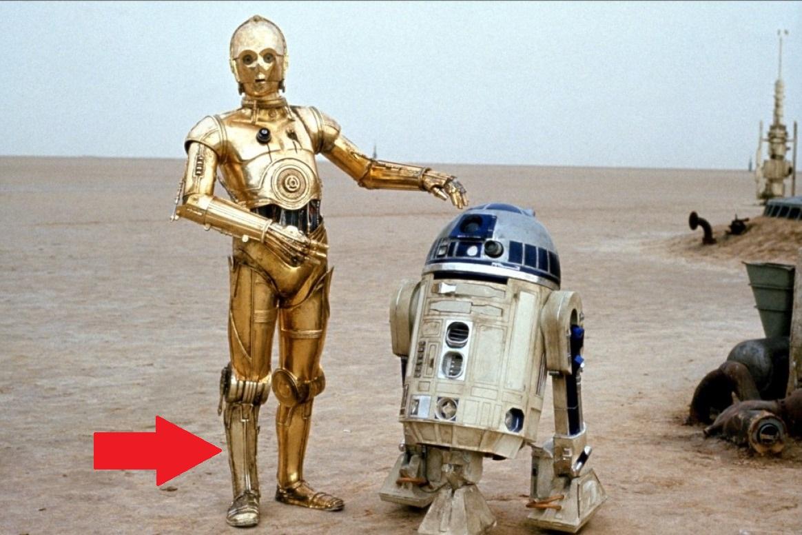 C-3PO Silver Leg