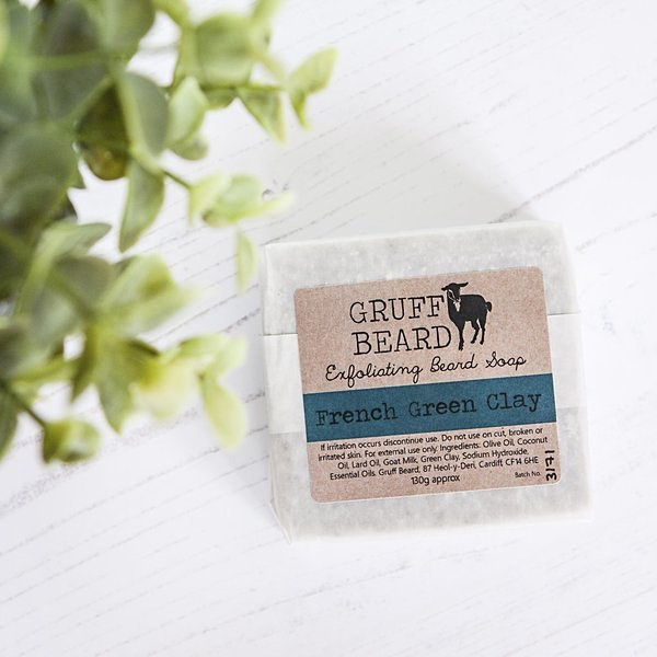 Gruff Beard, Exfoliating French Green Clay Beard Soap