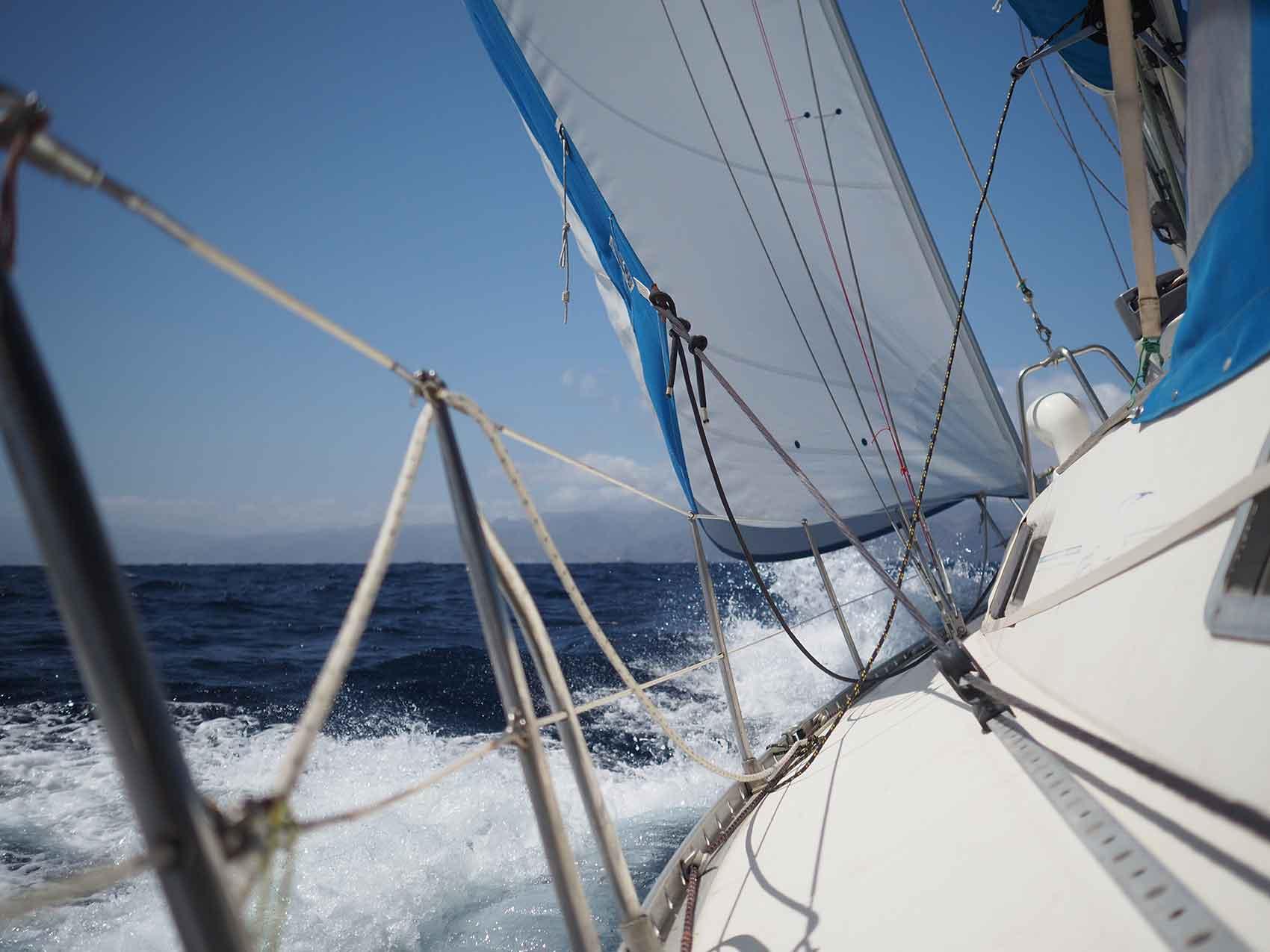 Navigation jusqu'à l'île de Tenerife.