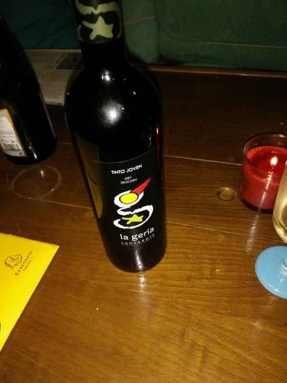 Vin acheté sur Lanzarote et bu pour le réveillon de Noël.