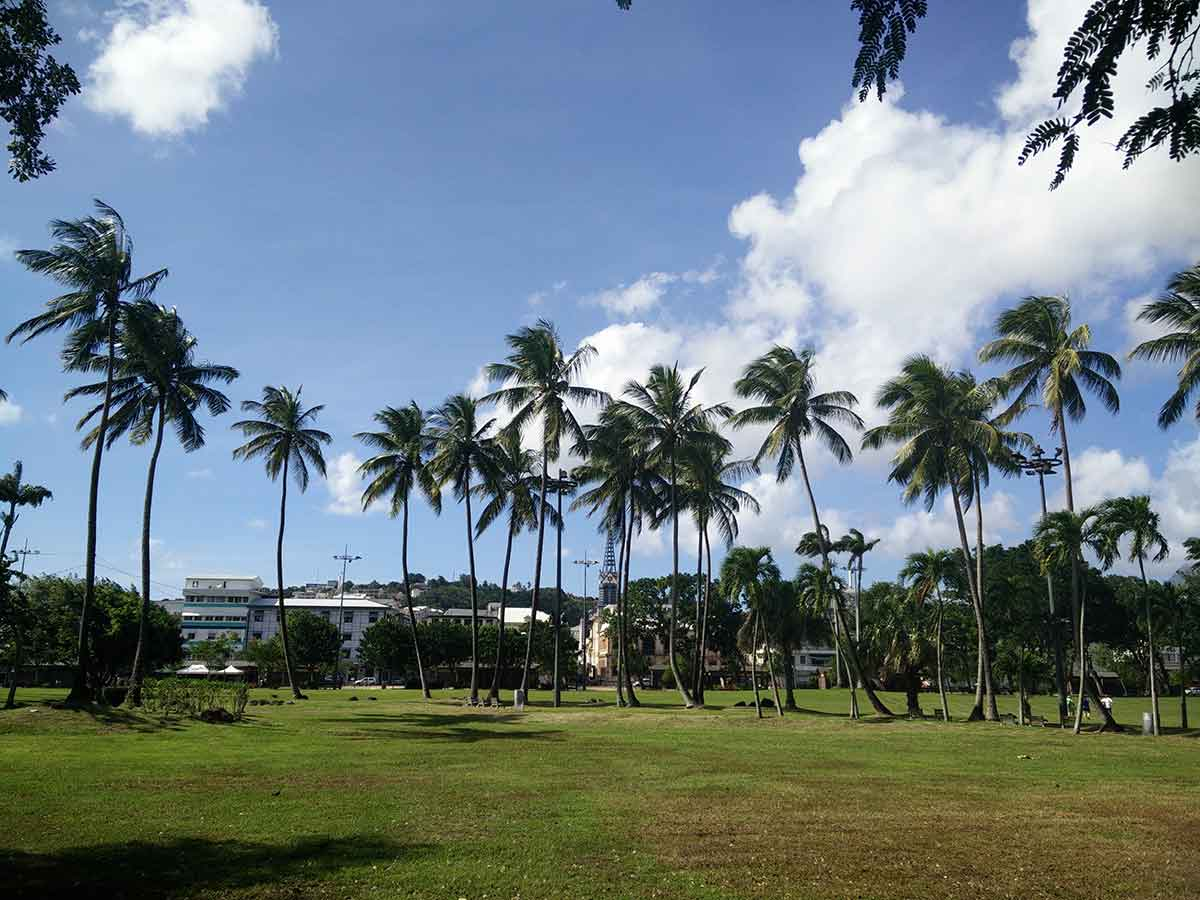 Parc de la Savane à Fort de France en Martinique.