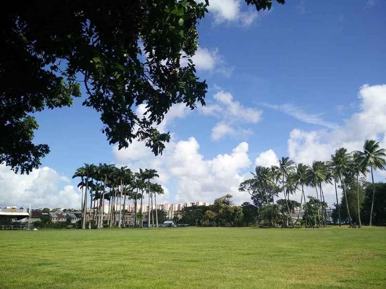 Le joli parc tranquille de la Savane, à Fort de France.