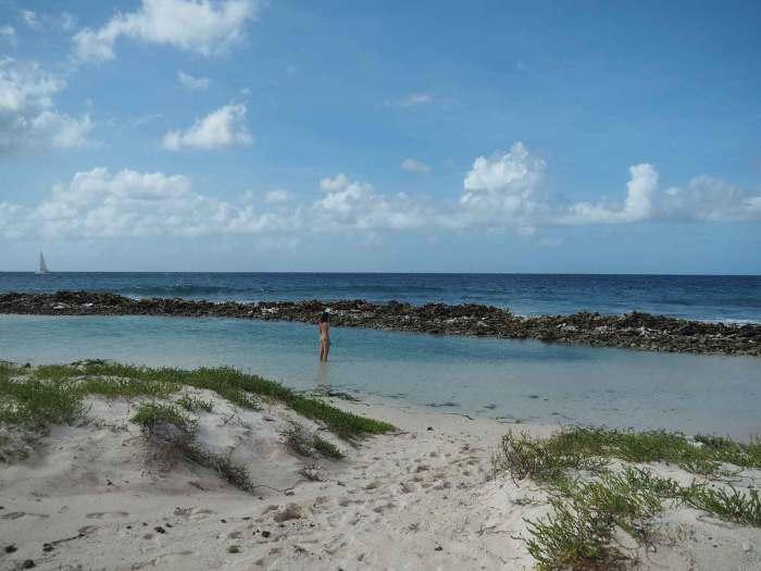 Lagon d'eau turquoise sur l'île de Sandy Island.