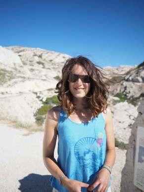 Anaïs aux îles Frioul, photo de profil.