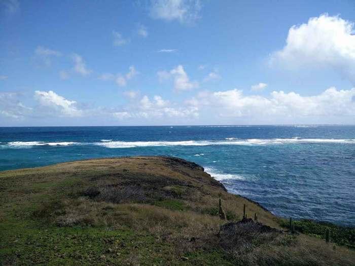 Le bout de la pointe du Vauclin, sur la côte est de la Martinique.