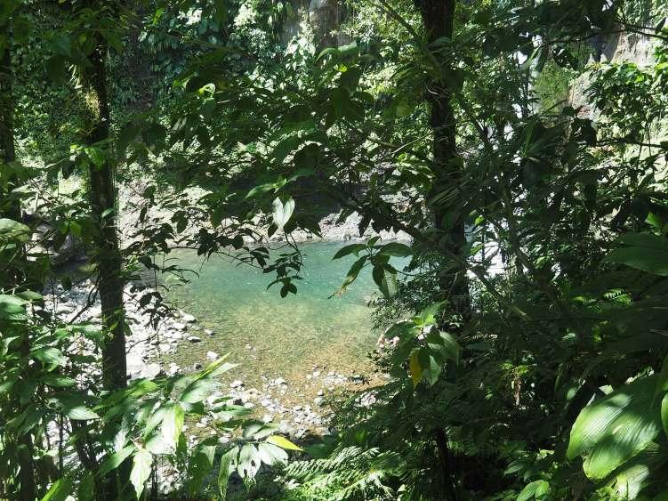 Bassin de la 3ème chute du Carbet en Guadeloupe.