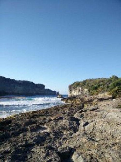 La Porte d'Enfer, passe dans les falaises sur la côte est de la Guadeloupe.
