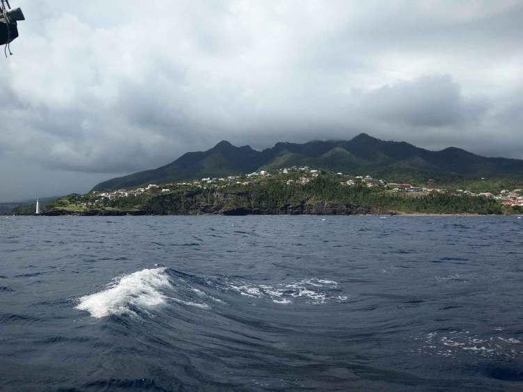 Temps incertain sur le sud de la Guadeloupe et l'île de Basse-Terre.