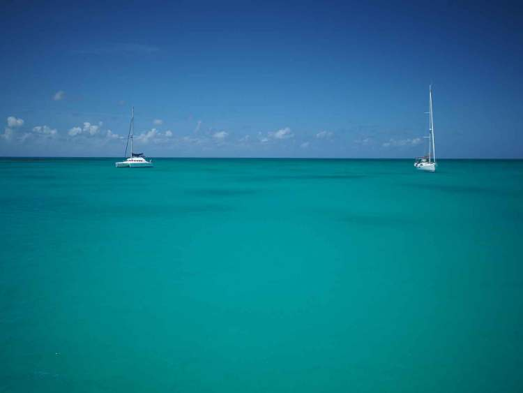 Mouillage sur Cocoa Point à Barbuda.