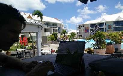 Wifi trouvé à l'hôtel Mercure du lagon de Saint Martin.