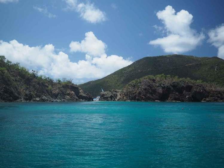 Mouillage à Monkey Point sur Guana Island, aux British Virgin Islands.