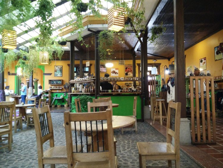 La boutique/musée du chocolat à Antigua Guatemala.