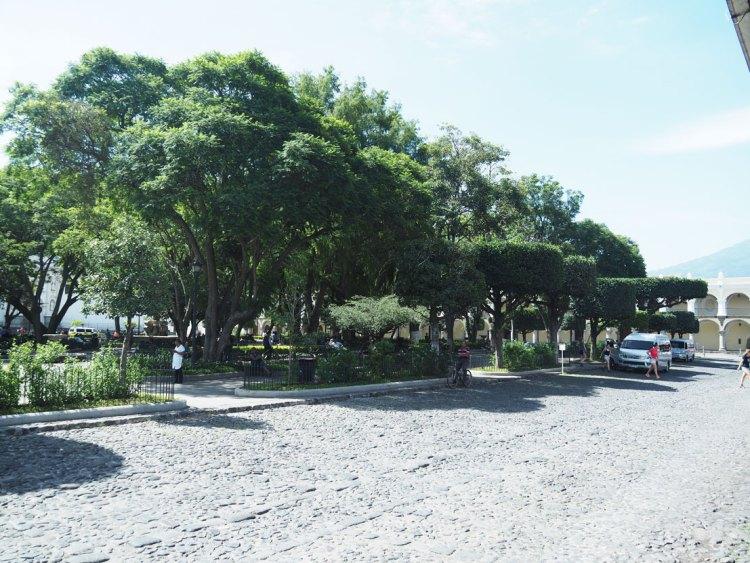 Parc central de la ville d'Antigua Guatemala.