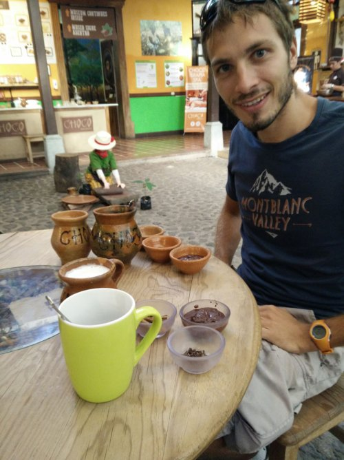 Chocolat chaud au Choco Museo à Antigua Guatemala.
