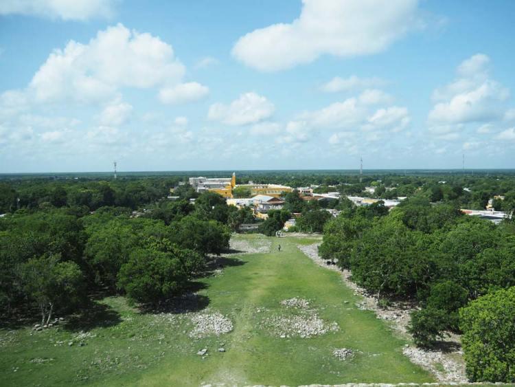 La forêt autour de la ville d'Izamal dans le Yucatan.