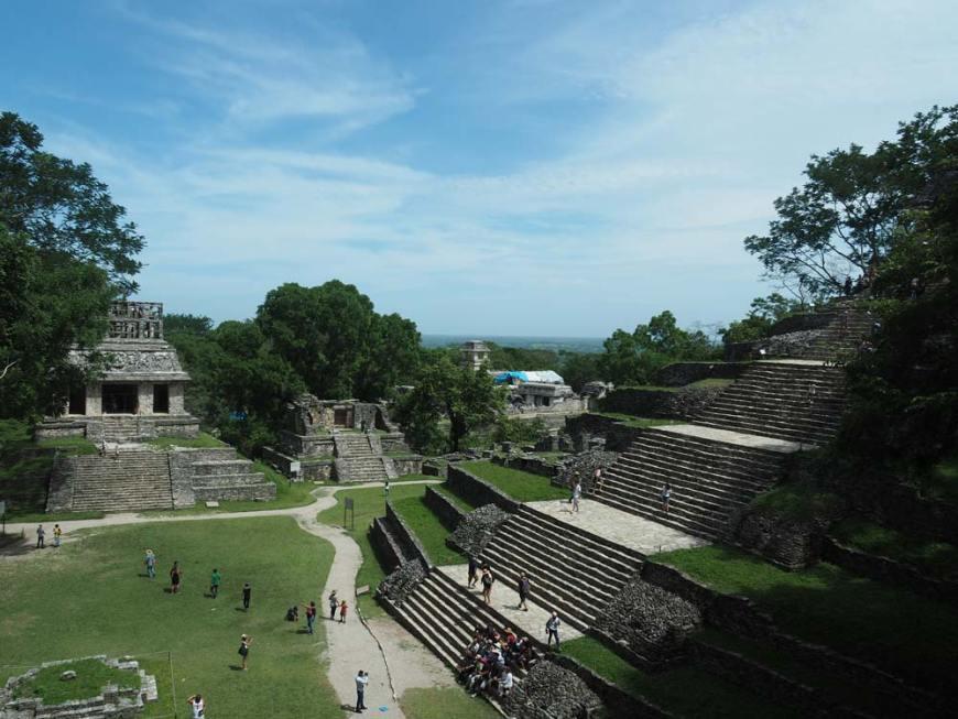 Les immenses pyramides de la cité maya de Palenque, au Mexique.