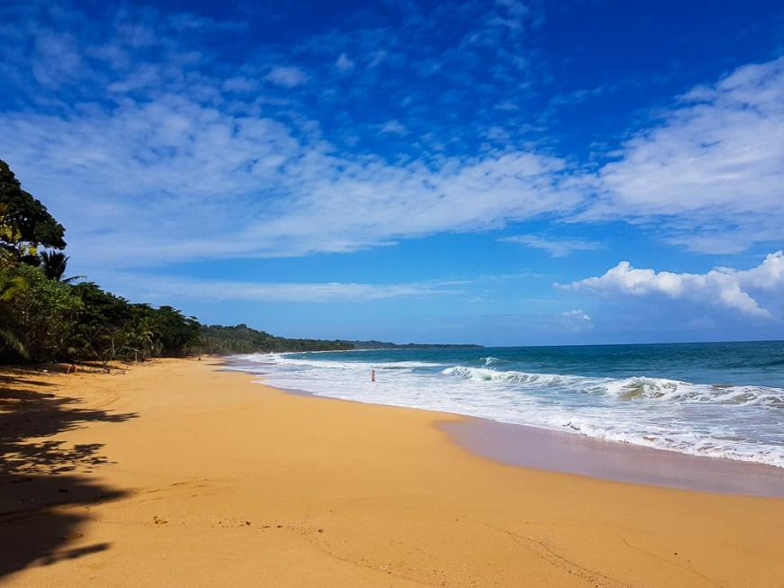Playa Bluff sur Isla Colon, à Bocas del Toro.