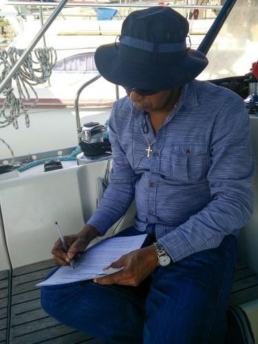 Signature de notre Transit Advisor sur le canal de Panama.